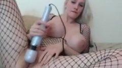 Kristi Lovett Fishnet Hitachi Orgasm