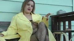 Smoking Fishnet Body Stocking In Yellow – ALHANA WINTER – Vintage RS Fetish