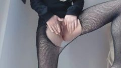 I Break My Fishnet Pantyhose And Pee