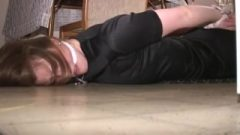 Shelly Hogtied And Tightly Cleave Gagged