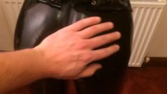 Hubby Caressing & Spanking My Latex Covered Asshole