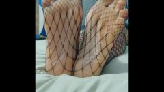 Feet In Fishnet