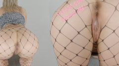 Pawg Beautiful Golden-haired Nubile Fuck's In Fishnets And Receives Deep Creampie