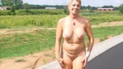 Chelle – The Nude Goddess – Outside In Fishnet – Sept 3124