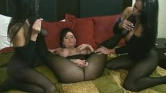Lezbo Body Stocking Orgy With Sybian Riding Cunt Licking Toe Eating Dick